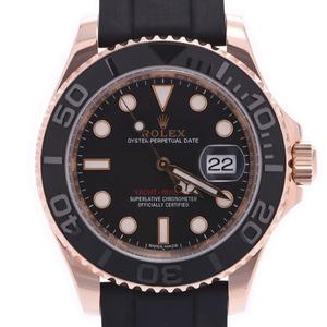 ROLEX ロレックス ヨットマスター 116655 メンズ エバーローズゴールド ラバー 時計 自動巻き 黒文字盤