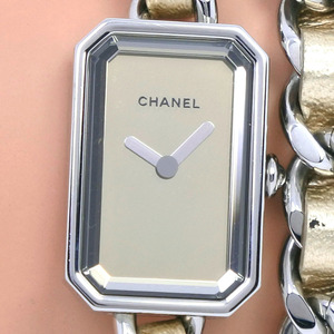 CHANEL Premiere LIMITED EDITION 1000 limited edition H5583 Stainless Steel Leather Quartz Ladies Gold Dial Watch