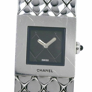 CHANEL Matrasse H0009 Stainless Steel Quartz Ladies Black Dial Watch