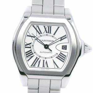 CARTIER Cartier Roadster LM W6206017 Stainless Steel Quartz Men's White Dial Watch