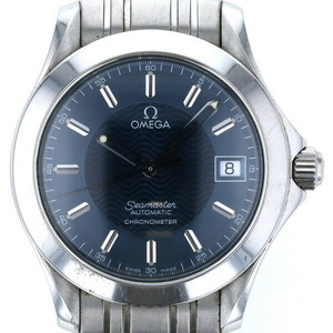 Omega OMEGA Seamaster Chronometer Date Automatic Blue Dial Men's Watch