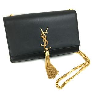 Saint Laurent Paris Shoulder Bag Kate Medium Tassel 354119BOW0J1000 Leather Black Ladies
