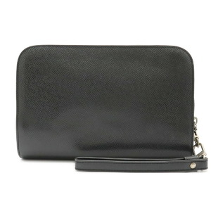 LOUIS VUITTON Louis Vuitton Taiga Baikal Second Bag Clutch Handbag Leather Aldwards Black M30182