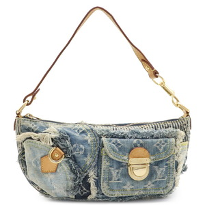 LOUIS VUITTON Monogram Denim Pouchy Mini Shoulder Bag One Semi Blue M95382