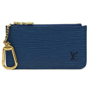 LOUIS VUITTON Epi Pochette Cle Coin Case Purse Leather Toledo Blue M63805