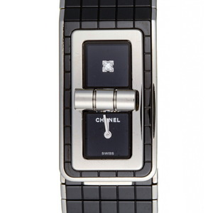 Chanel Code Coco 1P Diamond Ladies Watch H5147 Ceramic Black Dial