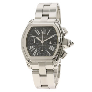 Cartier W62007 6 Roadster Chrono Watch Stainless Steel Men