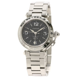 Cartier W31049M7 Pasha C Meridian Watch Stainless Steel Boys