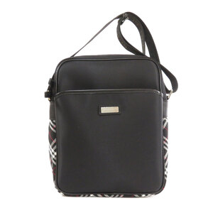 Burberry Black Label Plaid Shoulder Bag Nylon Mens