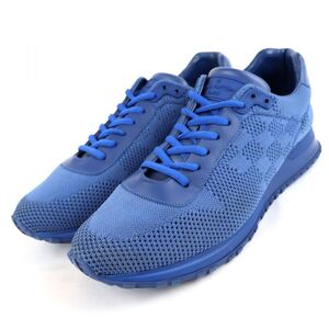 Louis Vuitton 17SS Runaway Line Damier Sneakers Mens Blue 8.5 Mesh Fabric