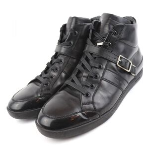 Dior Homme High Top Leather Sneakers Mens Black 42 Logo