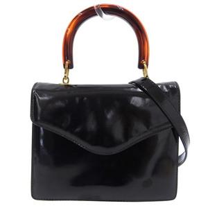 BOTTEGA VENETA 2WAY Handbag Shoulder Leather Black