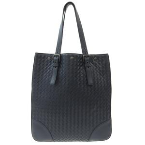 BOTTEGA VENETA Intrecciato Tote Bag Leather Navy B04114855Z