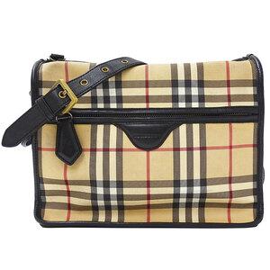 Burberry Shoulder Bag Ladies PVC Leather Beige Check