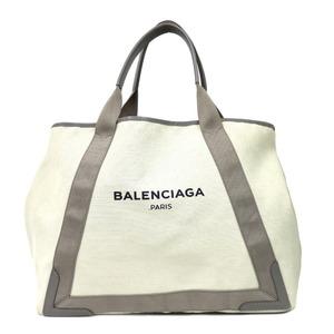Balenciaga Shoulder Bag Navy Cabas M Beige Ladies