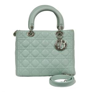 Christian Dior Shoulder Bag Handbag Lady Ginza Limited Green Ladies
