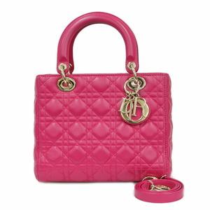 Christian Dior Shoulder Bag Handbag Lady Pink Ladies