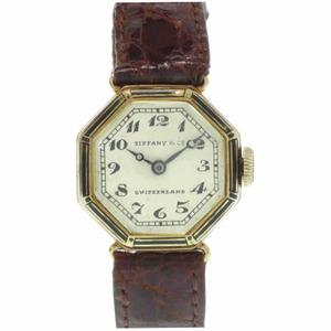 Tiffany Antique Manual Winding Watch K18YG Ivory Dial Longines Ladies