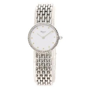 Chopard Bezel Diamond Watch K18 White Gold K18WG 41.3 Ladies