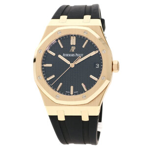Audemars Piguet 15500OR.00D002CR.01 Royal Oak Watch K18 Pink Gold Rubber Men