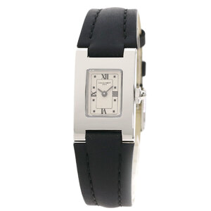 Chaumet Caseis Watch Stainless Steel Leather Ladies