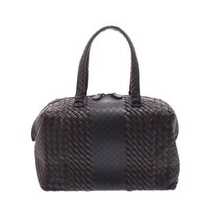 Bottega Veneta Intrecciato Mini Boston Bag BO1623013K Unisex Calf Handbag