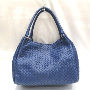 Bottega Veneta Intrecciato Blue Bag Tote Ladies
