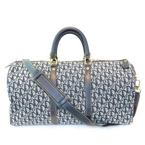 Christian Dior Trotter PZ0701 Navy Shoulder Strap Bag Boston Unisex