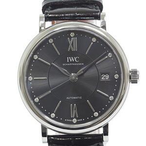 IWC Portofino Automatic 37 IW458102 Gray Dial 12P Diamond Winding