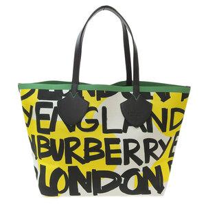 Burberry Graffiti Reversible Tote 4075825 Leather Bag