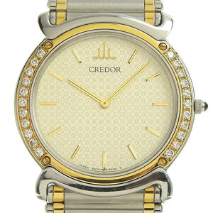 Seiko Credor Quartz Stainless Steel,Yellow Gold (18K) Boys' Dress Watch 5A74-0190