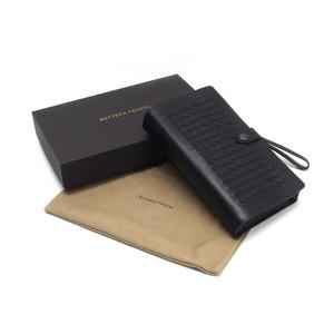 Bottega Veneta Intrecciato Clutch Bag Black