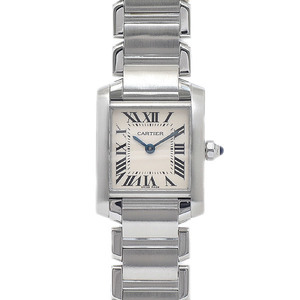 Cartier Tank Francaise SM Ladies Ivory Dial Stainless Steel Quartz W51008Q3 Watch