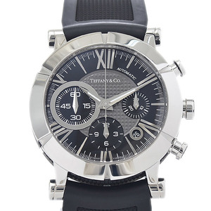 Tiffany Atlas Gent Chronograph Black Dial Stainless Steel Automatic Z1000.82.12A10A91A Men's