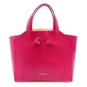 Furla Ribbon Handbag Women's 226194 Leather Pink