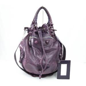 BALENCIAGA Giant Pompon Drawstring Shoulder Bag 2WAY