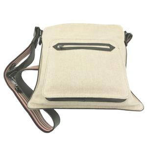 BOTTEGA VENETA canvas leather shoulder bag