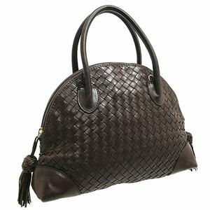 Bottega Veneta Handbag Vintage Intrecciato Nappa Bag Lambskin Dark Brown Leather Tote