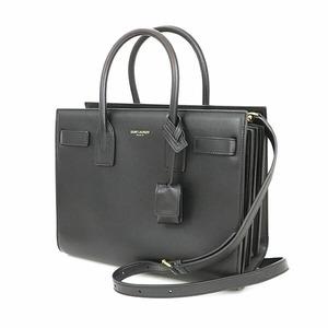 Saint Laurent Black Leather Sucked Jules 2way Handbag Shoulder Women's