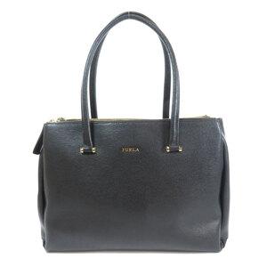 Furla Logo Tote Bag Leather Ladies