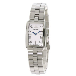 Seiko GSWE973 5A70-0AD0 Credor Watch Stainless Steel Ladies