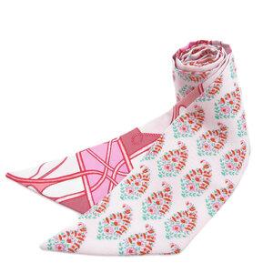 Hermes Twilly Flower Motif Scarf Silk Ladies