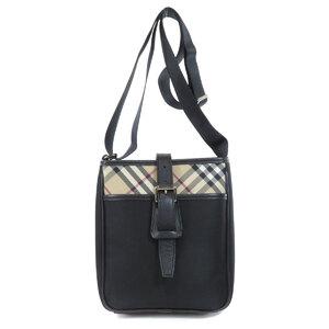 Burberry Nova Check Shoulder Bag Nylon Ladies