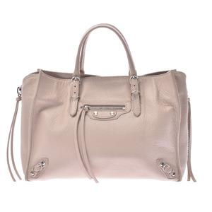 BALENCIAGA Balenciaga The Paper Mini 2WAY Bag Beige 370926 Ladies Calf Handbag