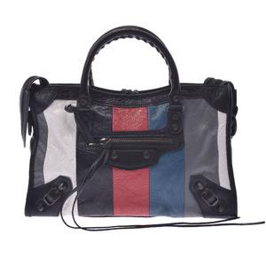 BALENCIAGA Balenciaga The City Bazaar 2WAY Bag Gray 431621 Unisex Calf Handbag