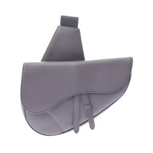 Christian Dior Saddlebag Gray Unisex Calf Shoulder Bag
