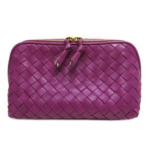 Bottega Veneta Intrecciato Pouch Purple Ladies Leather