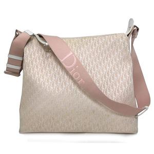 Christian Dior Shoulder Messenger Bag Trotter Pink Canvas 01RU 0064