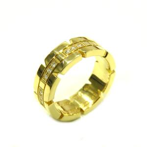 Cartier Tank Francaise Dialing Ring Women's Gold K18YG 750 Yellow No. 8