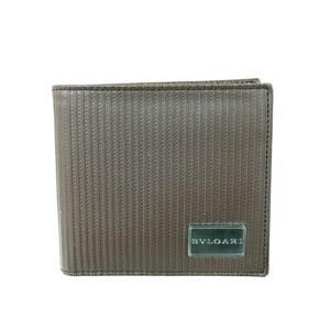 BVLGARI Bvlgari bi-fold wallet men's brown leather 28358